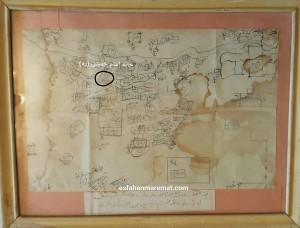 اسنادقدیمی , نقشه جنگی قاجاری متعلق به مجموعه مرمتکده هنر